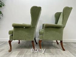 2 X Parker Knoll Pk1140 Wing Back Fireside Armchair Original Upholstery F47#