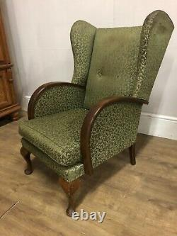 2x Vintage Bentwood Wingback Fireside Chairs