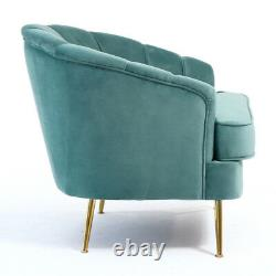 5 Colors Wing Back Velvet Fabric Chair Armchair Sofa Comft Lounge Fireside Tub