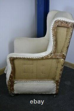 A Beautiful victotian Wingback Fireside Chair 19th century antique