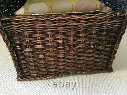 Antique High or Wing Back Wicker Armchair, Fireside, Porters, Shepherds