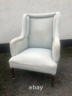 Antique Victorian Wing Back Fireside Chair