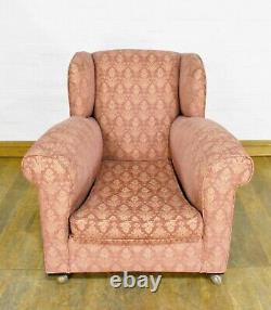 Antique vintage wingback fireside tub chair armchair