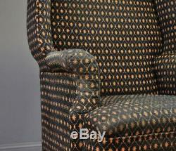 Attractive Antique Large Wing Back Fireside Armchair