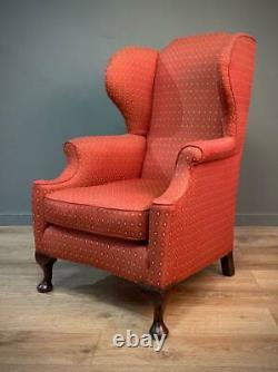 Attractive Large Antique Victorian Wing Back Fireside Armchair