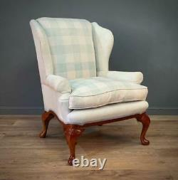 Attractive Large Upholstered Wingback Armchair Fireside Chair