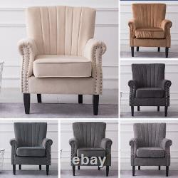 Chesterfield Armchair Fireside Queen Anne Sofa Wing Back Bedroom Lounge Chair