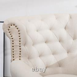 Chesterfield Armchair High Back Tufted with Rivet Tub Chair Lounge Sofa Fireside