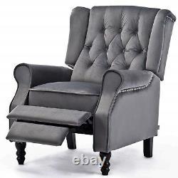 Chesterfield High Back Armchair Queen Anne Recliner TV Fireside Relaxing Chair