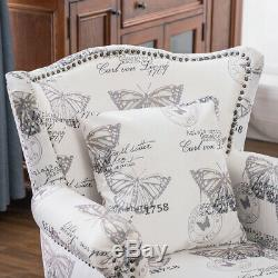 Chesterfield Velevt Wing Back Chair Occasional Fireside Armchairs Living Bedroom