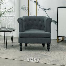 Chesterfield Velvet Armchair Buttoned Tub Chair Queen Anne Single Sofa Fireside