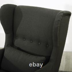 Chesterfield Wing High Back Queen Anne Fireside Armchair Chair Occasional Sofa