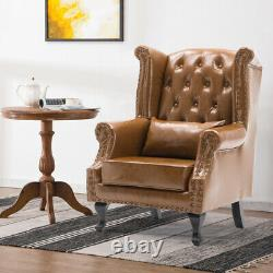 Chesterfield Wingback Armchair Anna Queen Leather Chair Fireside Occasional Sofa