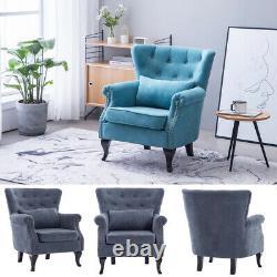 Chesterfield Wingback Armchair Fireside Queen Anne Sofa Chair Lounge