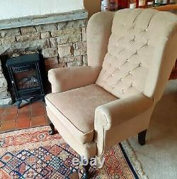 Chesterfield Wingback Fireside Accent / Occasional Armchair