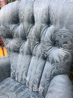 Comfy Fireside Tub Chair Button Back/ Wingback Armchair, Country House Look