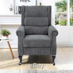 Corduroy Orthopedic Highback Chair Wing Back Chesterfield Sofa Fireside Armchair