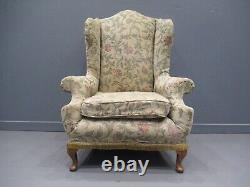 Early 20thC Wing Back Chair Library Chair Fireside Chair GoodShape Quality Frame