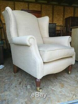 Elegant Laura Ashley Southwold Fabric Wingback Armchair Fireside Chair