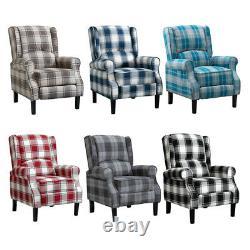 Fabric Recliner Chair Luxury Wingback Sofa Lounge Chair Home Cinema Fireside NEW