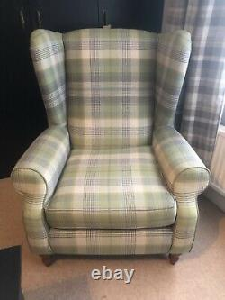 Fireside Check Tartan Wingback Armchair From Next Lounge Living Room
