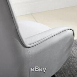 Grey Wing Back Occasional Chair Tub Armchair Living Room Fireside Sofa Lounge BN