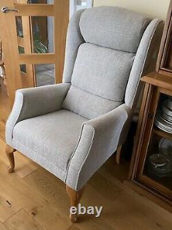HSL Carlton Fireside Chair Armchair Feature Grey Wingback Hardly Used