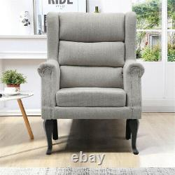 High Back Corduroy Tub Armchair Fireside Sofa Orthopedic Elderly Chair Office UK