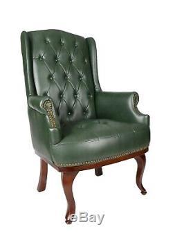 High Back Fireside Wingback Queen Ann Armchair Chair