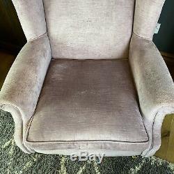 Laura Ashley Wingback Armchair / Fireside Chair / High Back / Pink Fabric