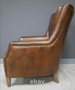 Leather Armchair The Epsley GrandeHall Chair, Fireside Chair