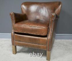 Leather Armchair The Epsley Hall Chair, Fireside Chair