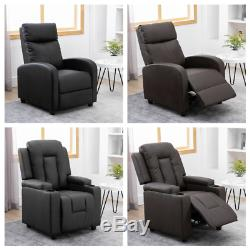 Luxury Faux Leather Recliner Chair Wingback Sofa Lounge Home Cinema Fireside BN