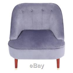Modern Occasional Cocktail Velvet Accent Tub Chair Wing Back Armchair Fireside