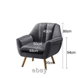 Modern Velvet Fabric Occasional Lounge Tub Chair Scallop Back Armchair Fireside