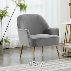 Modern Velvet Fabric WingBack Tub Chair Fireside Armchair Sofa Ottoman Footstool