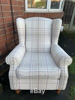 Next Sherlock Armchair Fireside Wingback Chair Vgc