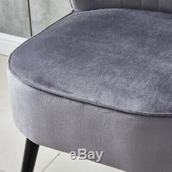 Occasional Dining Chair Sofa Chair Living Room Bedroom Fireside Wing back Grey