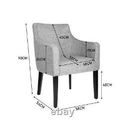 Occasional Velvet/Linen Modern Armchair Tub Chair Lounge Wing Back Sofa Fireside