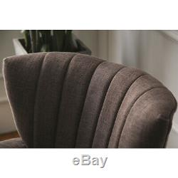 Occasional Wing Sofa Chair High Back Fabric Linen Tub Armchair Fireside Lounge