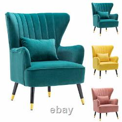 Oyster Chesterfield Wing Back Chair Cuddle Armchair Bedroom Fireside Lounge Sofa