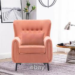 Oyster Wing Back Chair Button High Back Armchair Fireside Lounge Tub Sofa Velvet