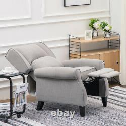 Padded Reclining Armchair Fabric Wing Back Chair Recliner Sleeper Sofa Fireside