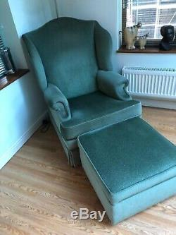 Parker Knoll Fireside Armchair And Stoarge Footstool
