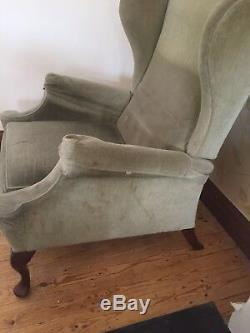 Parker Knoll Pk 1102 Recliner Wing Back Armchair Fabric Seat Fire Side Manual
