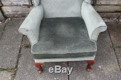 Parker Knoll Wing Back Pk 720 High Back Armchair Fire Side Upholstery Vgc