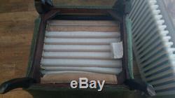 Parker Knoll Wingback Armchair PK 720 High Back Fireside & Footstool in Green