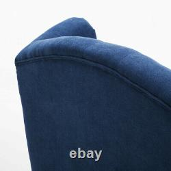 Retro Chesterfield Queen Anne Armchair High Button Back Studded Fireside Chair