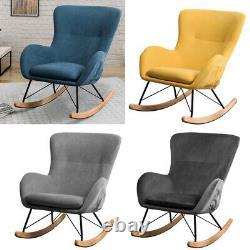 Rocking Chair Recliner Armchair Corner Fireside Resting Rocker Sofa Upholstered