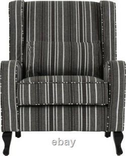 Sherborne Fireside Chair Grey Stripe Fabric